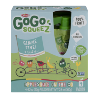 Materne GoGo Squeez Gimme Five Applesauce On The Go 3.2oz Pouch 4PK product image