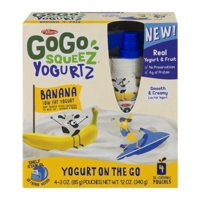 Materne GoGo Squeez Yogurtz Banana Yogurt On The Go 3oz Pouch 4PK product image