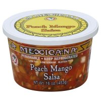 La Mexicana Peach Mango Salsa 16oz Tub product image