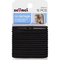 Scunci No Damage Hair Ties Black 15PC product image
