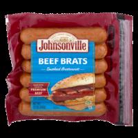 Johnsonville Fully Cooked Beef Brats Smoked Bratwurst 12oz product image