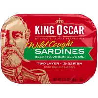King Oscar Wild Caught Sardines in Extra Virgin Olive Oil 3.75 oz Tin product image
