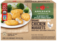 Applegate Organics Gluten Free Chicken Nuggets 8oz Box product image