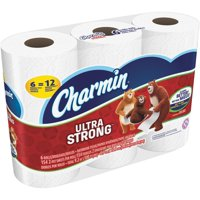 Charmin Bath Tissue Ultra Strong Double Roll Toilet Paper 2-Ply 6CT product image