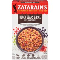 Zatarain's Black Beans & Rice Rice Dinner Mix 7oz Box product image