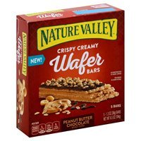 Nature Valley Peanut Butter Chocolate Crispy Creamy Wafer Bar - 6.5oz 5ct product image