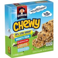 Quaker Chewy Reduced Sugar Variety Bars - 6.7oz product image