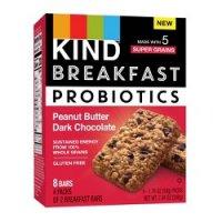 KIND Breakfast Probiotic Bars Peanut Butter Dark Chocolate 7.1oz product image
