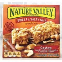 Nature Valley Sweet & Salty Nut Cashews Granola Bars 7.4oz product image