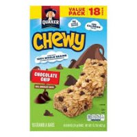 Quaker Chewy Chocolate Chip Granola Bars 15.2oz 18ct product image