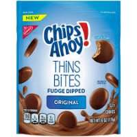 Chips Ahoy! Thins Bites Fudge Dipped Cookies 6oz product image