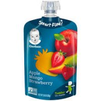 Gerber Toddler Fruit Squeezable Puree, Apple Mango Strawberry - 3.5oz product image