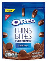 Oreo Thin Bites Fudge Dipped Original Sandwich Cookies - 6oz product image