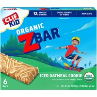 CLIF Kid® Organic ZBar™ Iced Oatmeal Cookie Baked Whole Grain Energy Snack 6-1.27 oz. Bars product image