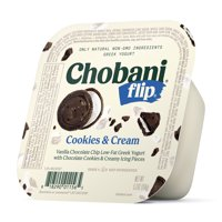 Chobani, Flip Cookies & Cream Low Fat Greek Yogurt, 5.3 Oz. product image