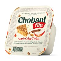Chobani® Flip® Low-fat Greek Yogurt, Apple Crisp Twist 5.3oz product image