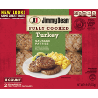Jimmy Dean Fully Cooked Turkey Sausage Patties, 9.6 Oz., 8 Count product image