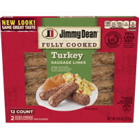 Jimmy Dean Fully Cooked Turkey Sausage Links, 9.6 Oz., 12 Count product image