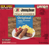 Jimmy Dean Fully Cooked Original Pork Sausage Links, 9.6 Oz., 12 Count product image