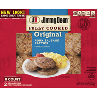 Jimmy Dean Original Fully Cooked Pork Sausage Patties, 9.6 Oz., 8 Count product image
