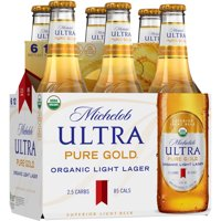 Michelob Ultra Pure Gold® Organic Light Lager 6-12 fl. oz. Glass Bottles product image