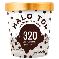 Halo Top Cookies & Cream Ice Cream, 1 pint product image