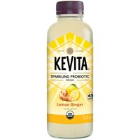 KeVita Sparkling Probiotic Drink, Lemon Ginger, 15.2 oz Bottle product image
