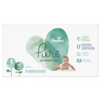 Pampers Pure Protection Newborn Diapers Size 1 74 Count product image