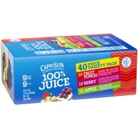 Capri Sun 100% Juice Variety Pack, 40 ct - 6 fl oz Pouches product image