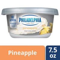 Philadelphia Regular pineapple Cream Cheese Tub - 7.5oz product image