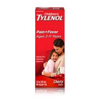 Children's Tylenol Pain + Fever Relief Liquid - Acetaminophen - Cherry - 4 fl oz product image