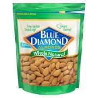 Blue Diamond Almonds Whole Natural - 12oz product image