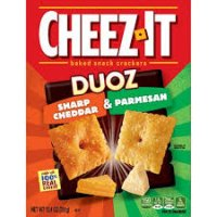 Cheez-It Duoz Sharp Cheddar And Parmesan Baked Snack Crackers 12.4oz product image
