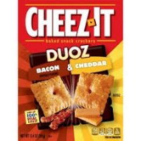 Cheez-It Duoz Bacon & Cheddar Baked Snack Crackers 12.4oz product image