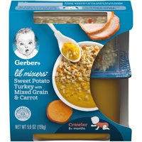 Gerber Lil' Mixers, Sweet Potato Turkey with Mixed Grains and Carrot, 5.6 oz Container product image