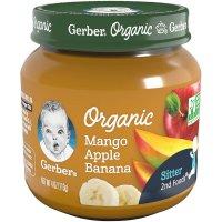 Gerber Organic 2nd  Mango Apple Banana 4oz product image