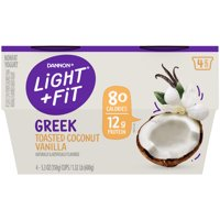 Light + Fit Nonfat Gluten-Free Toasted Coconut Vanilla Greek Yogurt, 5.3 Oz. Cups, 4 Count product image