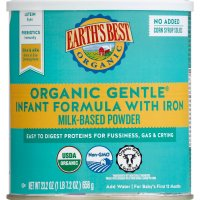 Earth's Best Organic Gentle Infant Powder Formula with Iron, Easy To Digest Proteins, 23.2 oz. product image