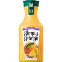 Simply Orange Juice with Pineapple, 52 fl oz product image