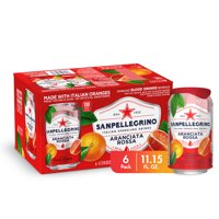 Sanpellegrino Blood Orange Italian Sparkling Drinks, 11.15 fl oz. Cans (6 Count) product image
