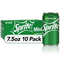 Sprite Lemon Lime Soda Soft Drinks, 7.5 fl oz, 10 Pack product image