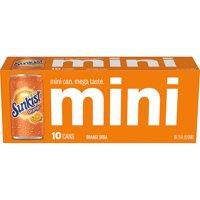 Sunkist Orange Soda, 7.5 fl oz mini cans, 10 pack product image