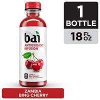 Bai Flavored Water, Zambia Bing Cherry, 18 fl oz bottle product image