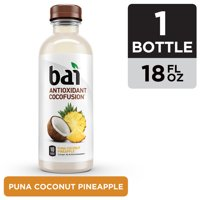 Bai Coconut Flavored Water, Puna Coconut Pineapple, Antioxidant Infused Drink, 18 Fluid Ounce Bottle product image
