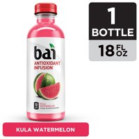 Bai Flavored Water, Kula Watermelon, Antioxidant Infused Drinks, 18 Fluid Ounce Bottle product image