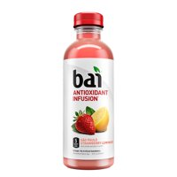 Bai Flavored Water, So Paulo Strawberry Lemonade, Antioxidant Infused Drinks, 18 Fluid Ounce Bottle product image