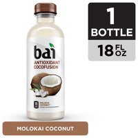 Bai Coconut Flavored Water, Molokai Coconut, Antioxidant Infused Drinks, 18 Fluid Ounce Bottle product image