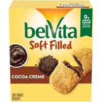belVita Soft Filled Breakfast Biscuits, Cocoa Creme Flavor, 5 Packs (5 Biscuits Total) product image