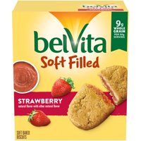 belVita Soft Filled Strawberry Soft Baked Breakfast Biscuits, 5 Packs (1 Biscuit Per Pack) product image