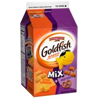 Pepperidge Farm Goldfish Mix Flavor Blasted Xtra Cheddar + Pretzel Crackers, 34 oz. Carton product image